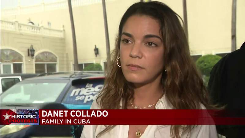 Cuban Americans in Miami fear for relatives' lives after protests in Cuba