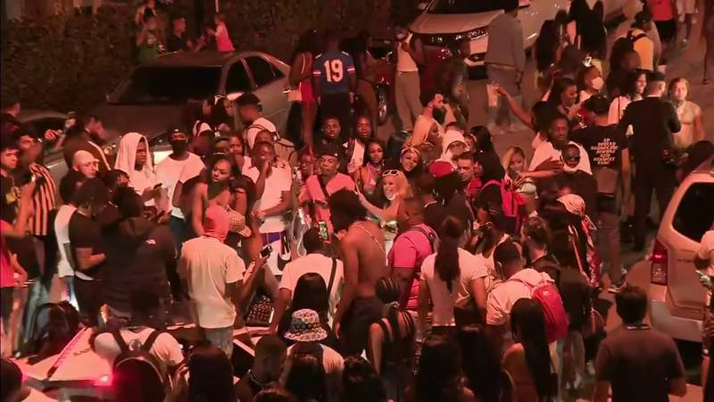 Chaos on Miami Beach isn't necessarily being caused by college spring breakers