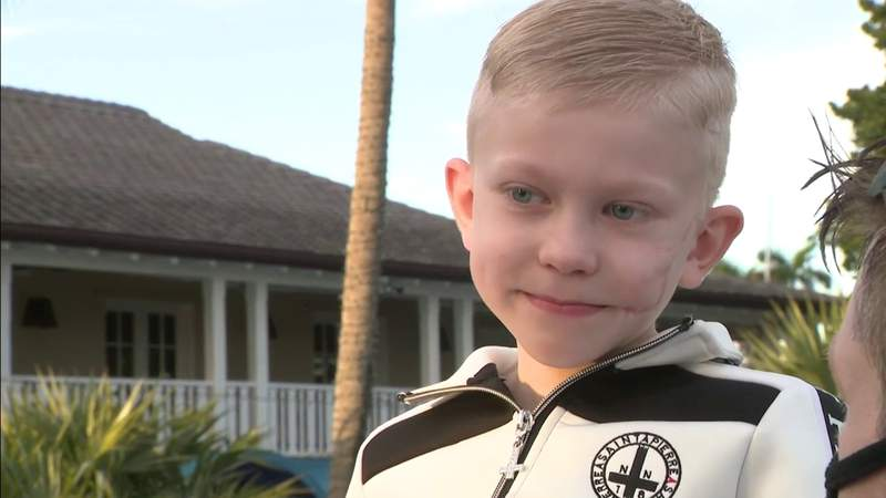 7-year-old boy who rescued his sister from dog attack receives VIP yacht treatment in South Florida