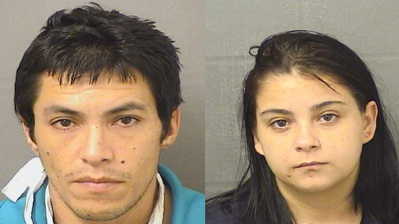 These two people have been arrested in connection with the attempted burglary of a pawn shop in West Palm Beach.