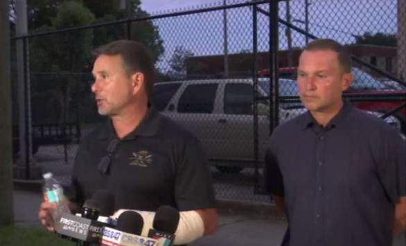 Jacksonville's mayor and sheriff update reporters on violent protests on Saturday in downtown.