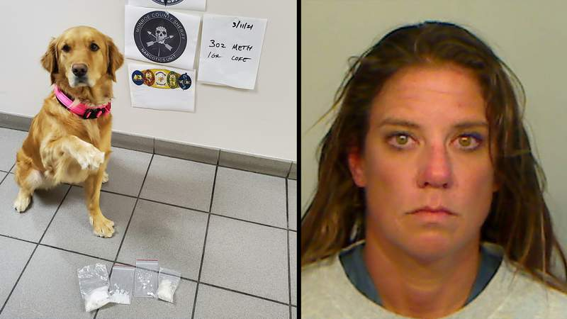 K9 Coral assisted in the arrest of a Key West woman who faces drug trafficking and possession charges.