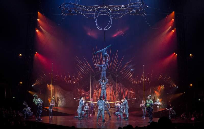 Acrobats performing