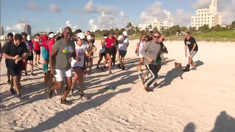 Special 4.9K CommUnity Rainbow Run held on South Beach