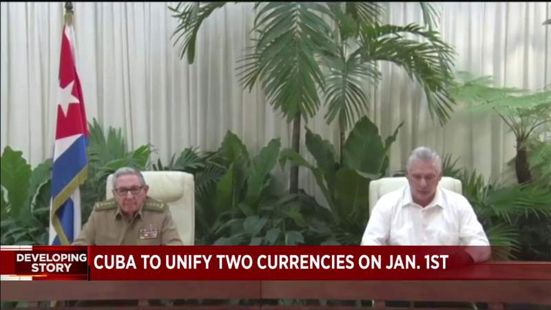 Cuba transitions to 'unification' of double currency system