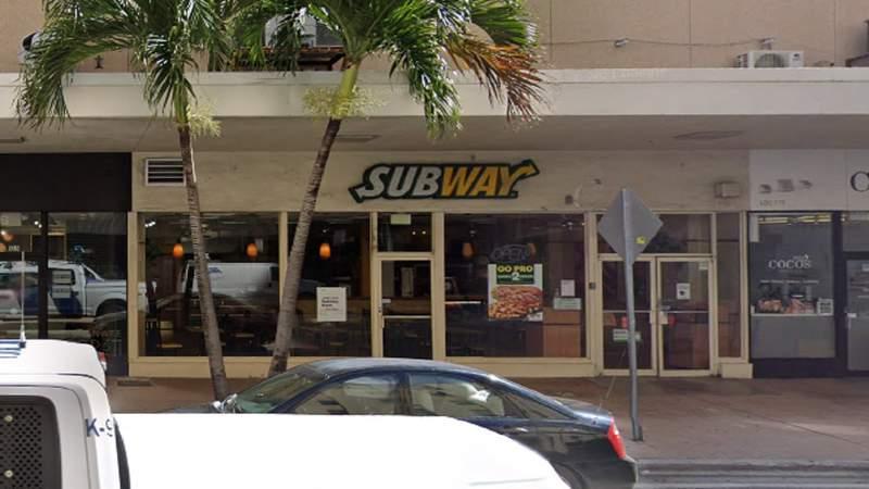 Subway restaurant in downtown Miami.