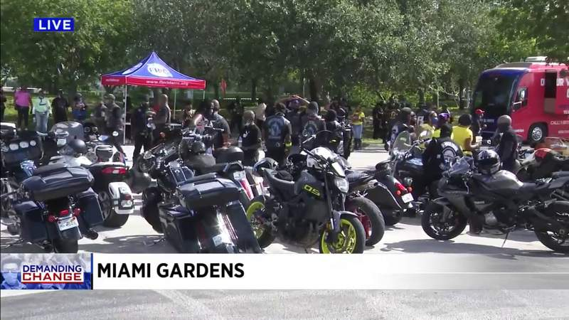 Motorcycle ride for justice held in South Florida
