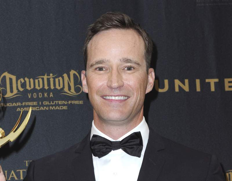 FILE - Producer Mike Richards poses in the pressroom at the 43rd annual Daytime Emmy Awards on May 1, 2016, in Los Angeles. Richards stepped down as host of Jeopardy! after a report about past misogynistic comments surfaced this week. He was chosen last week as the successor to Alex Trebek, but his selection was seen as divisive from the beginning after the show embarked on a broad search that included actors, sports figures, journalists and celebrities. (Photo by Richard Shotwell/Invision/AP, File)