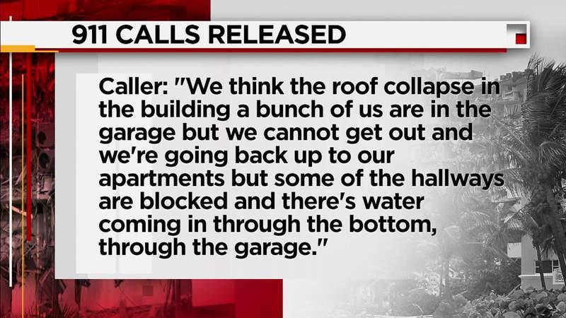 Colapso del edificio de Surfside: la policía libera llamadas al 911 de los sobrevivientes