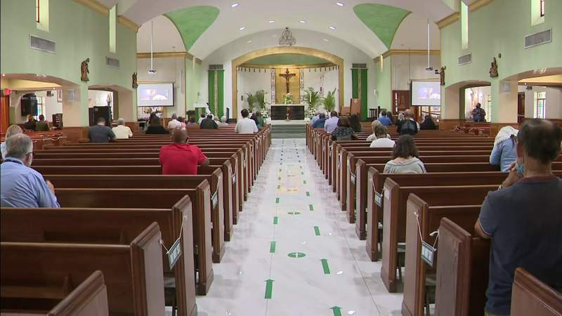 Heartbroken parishioners gather to pray for church members missing after Surfside building collapse