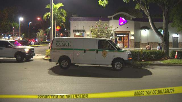 A man was stabbed during a dispute inside this Taco Bell on the corner of Northwest 187th Street and Northwest 67th Avenue.