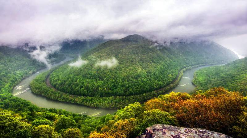 From this overlook 1,400 feet above the the river, one can understand why the New River Gorge is known by many as the Grand Canyon of the East.