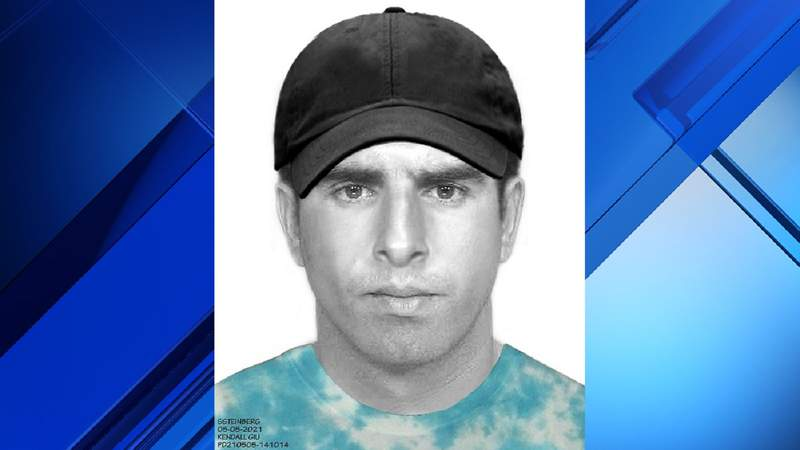 Sketch of man who police said assaulted a woman on May 5, 2021, in Kendall.