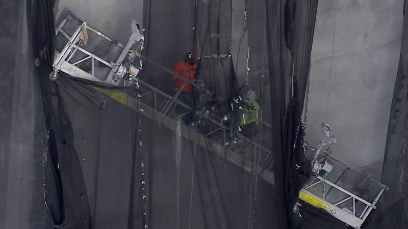 WATCH: Raw footage of rescue operation in Miami Beach after scaffolding malfunctions