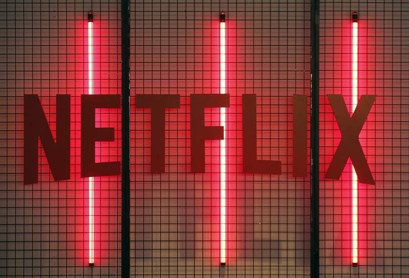 Netflix logo is displayed during the 'Paris Games Week' on November 02, 2017 in Paris, France. Netflix is an American company offering streaming movies and TV series on the Internet. 'Paris Games Week' is an international trade fair for video games and runs from November 01 to November 5, 2017.  (Photo by Chesnot/Getty Images)