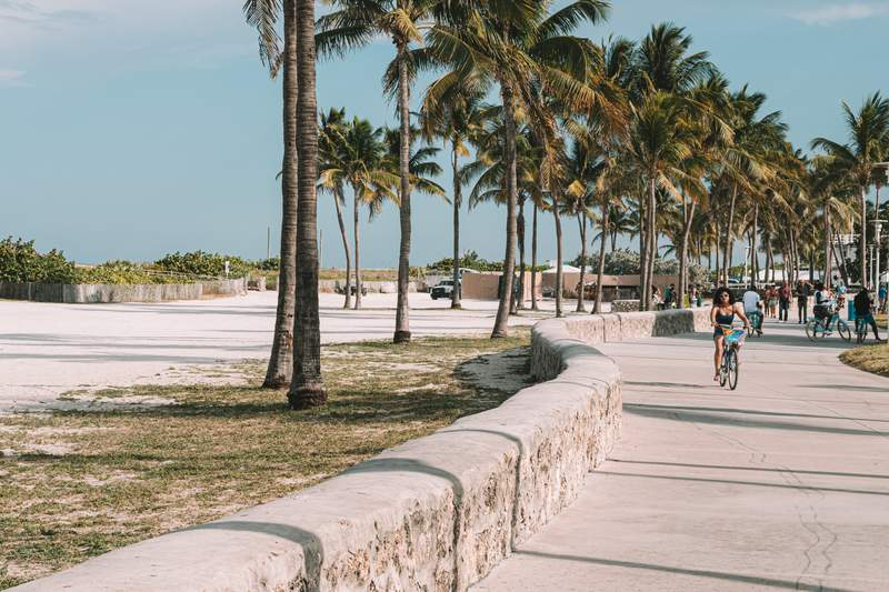 Miami has ranked second in a study's list of most scenic bike riding cities in the world.