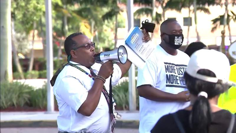 Protesters in Broward County communities want their message heard