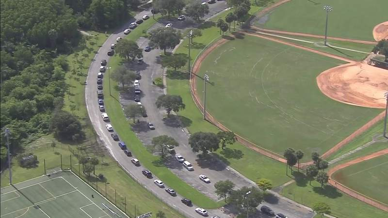 COVID testing lines in Broward are 2-3 hours long
