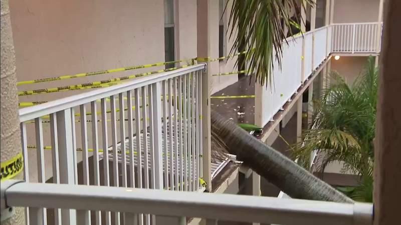 Massive tree crashes into Broward condo complex