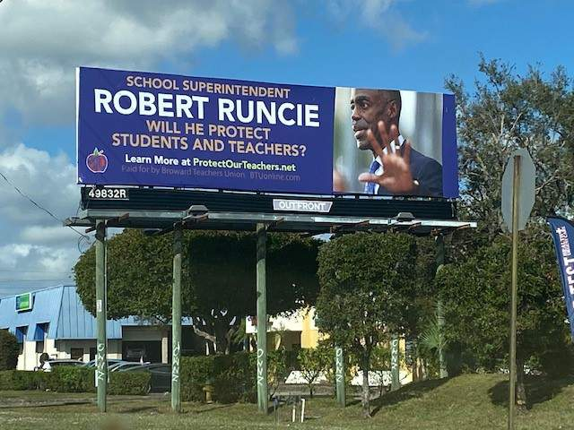 The Broward Teachers Union put up two billboards to bring awareness of their disagreement with school superintendent over forcing teachers back to the classroom who may be at risk for COVID-19.