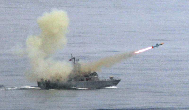 """FILE - In this May 16, 2007, file photo, a Taiwanese navy frigate launches a """"Harpoon"""" surface-to-surface missile during the second day of the annual Hankuang military exercises off Ilan, central eastern coast of Taiwan. The State Department says it has notified Congress of plans for a $2.37 billion sale of Harpoon attack missiles to Taiwan, a move likely to anger China. The announcement on Oct. 26, 2020, came just hours after China said it will sanction Boeing Co.s defense unit, Lockheed Martin Corp. and other U.S. military contractors for supplying weapons to Taiwan.(AP Photo/Wally Santana, File)"""