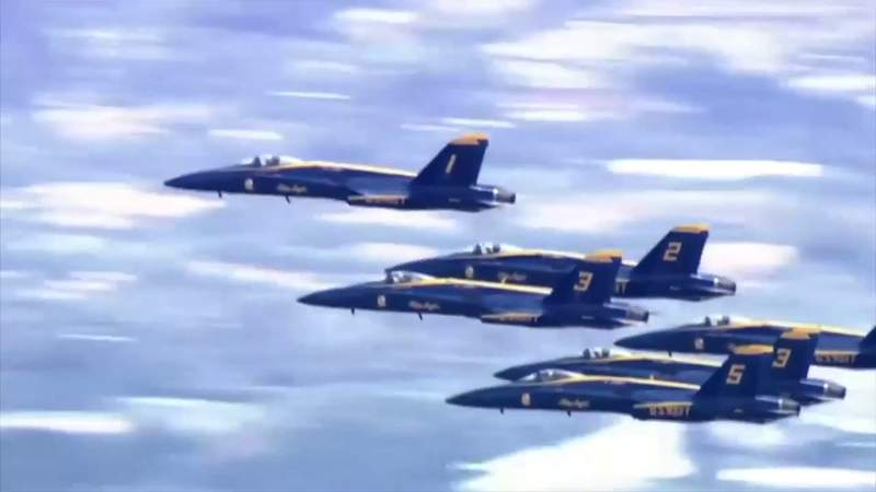 Blue Angels fly over to honor coronavirus pandemic heroes