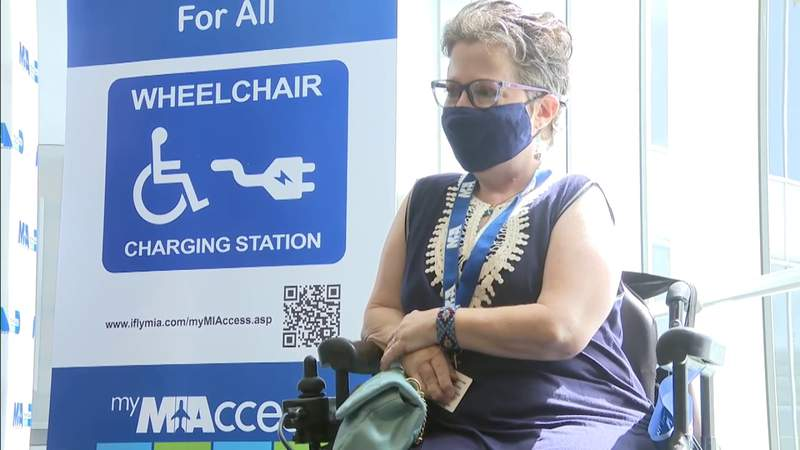 Miami International Airport adds wheelchair charging stations
