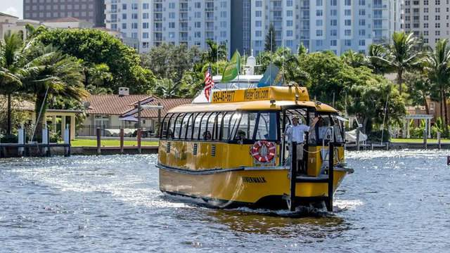 Active-duty military in uniform can ride the Water Taxi of Fort Lauderdale for free during Fleet Week.