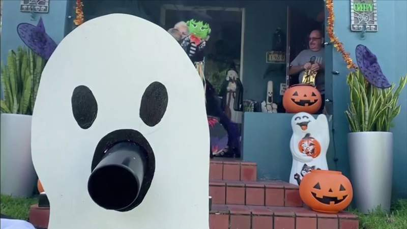 Parents are hacking Halloween with 'Candy Chute,' zip lines, piñatas