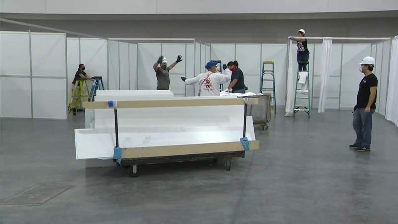 Florida National Guard recalled to field hospital at Miami Beach Convention Center