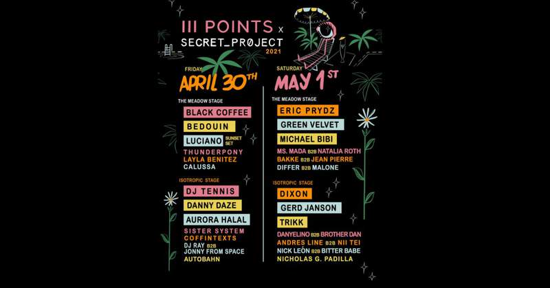 III Points Music Festival lineup.