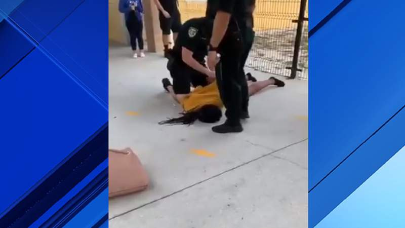Cellphone video captured an Osceola sheriff's deputy slamming a student to the ground in Kissimmee.