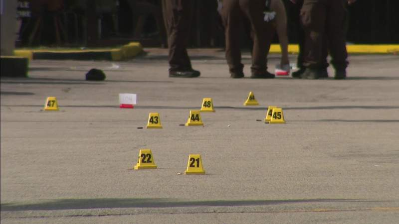 More than 100 shell casings found at scene of mass shooting, police say