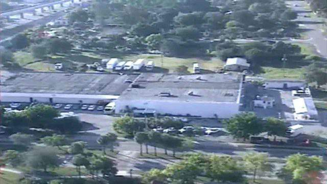 """This is an aerial view of Yahweh ben Yahweh's """"Temple of Love"""" in Miami's Liberty City circa 1990."""