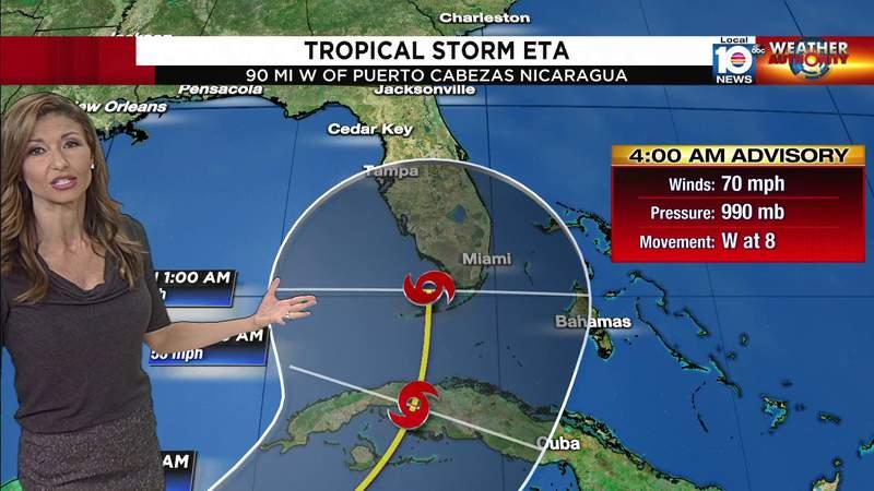 Hurricane Eta: 4 a.m. Wednesday advisory.
