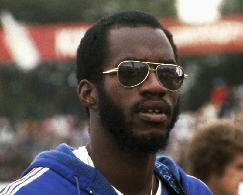 FILE - This 1979 file photo shows Edwin Moses, 400-meter gold Olympic medalist.  Forty years ago this weekend, the U.S. Olympic Committee voted to boycott the 1980 Moscow Games. It was a decision triggered by then-President Jimmy Carter, who wanted to send a message to the Soviet Union for invading Afghanistan.  The Soviet Union returned the favor by boycotting the Los Angeles Games in 1984.  Moses called the whole ordeal horrible. More than 200 of the U.S. athletes never had another chance to compete at an Olympics.(AP Photo)
