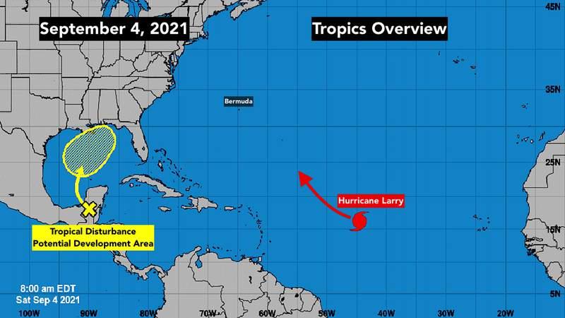 Tropical Atlantic storm activity.
