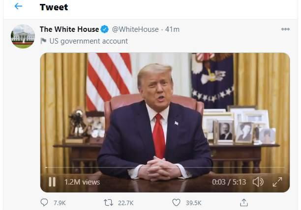 Trump releases Twitter video