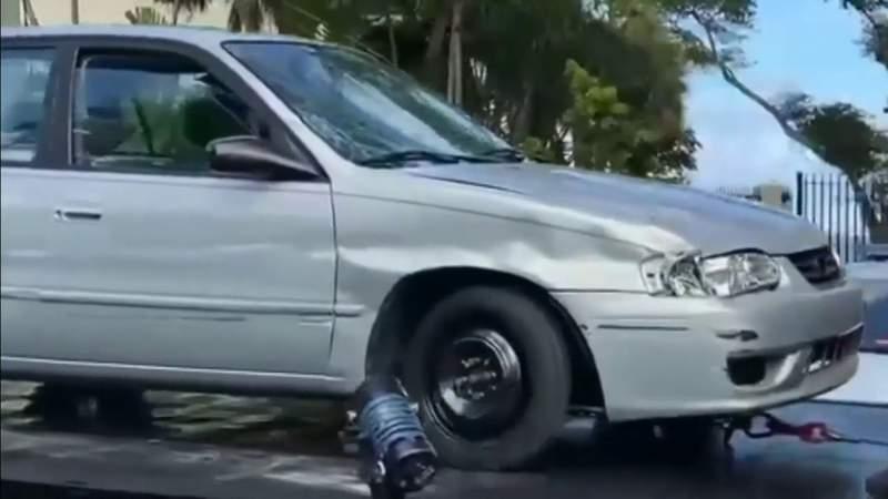 Officers detain man, seize damaged Toyota near fatal hit-and-run crash