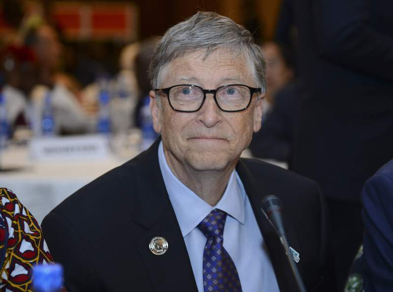 """FILE - In this Feb. 9, 2019, file photo, Bill Gates, chairman of the Bill & Melinda Gates Foundation, attends the """"Africa Leadership Meeting - Investing in Health Outcomes"""" held at a hotel in Addis Ababa, Ethiopia. Leaders of the Gates and Rockefeller Foundations  grant makers that have committed billions of dollars to fight the coronavirus  are warning that without larger government and philanthropic investments in the manufacture and delivery of vaccines to people in poor nations, the pandemic could set back global progress on education, public health, and gender equality for years. (AP Photo/Samuel Habtab, File)"""