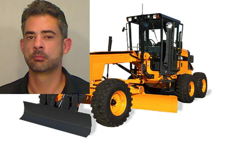 Monroe County Sheriff's Office arrested Christopher Hawkins for driving stolen construction machinery similar to the one by Leeboy pictured here. Note: Pictured is a new model. (Grader photo/LeeBoy)