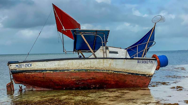 U.S. Customs Border Protection released this photo of a Cuban fishing vessel on Monday in the Florida Keys.
