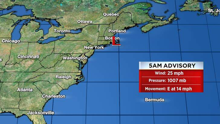 Tropics Forecast Cone at 4:43 Tuesday Night, August 24th