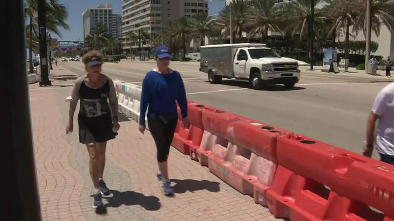 Social distancing measures eased in many South Florida beachside areas