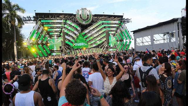 The Ultra Music Festival stage in 2016.  Photo by Aaron Davidson/Getty Images