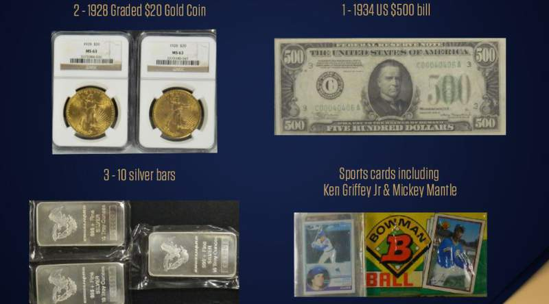 The state of Florida is auctioning these unclaimed items and several others online this month.