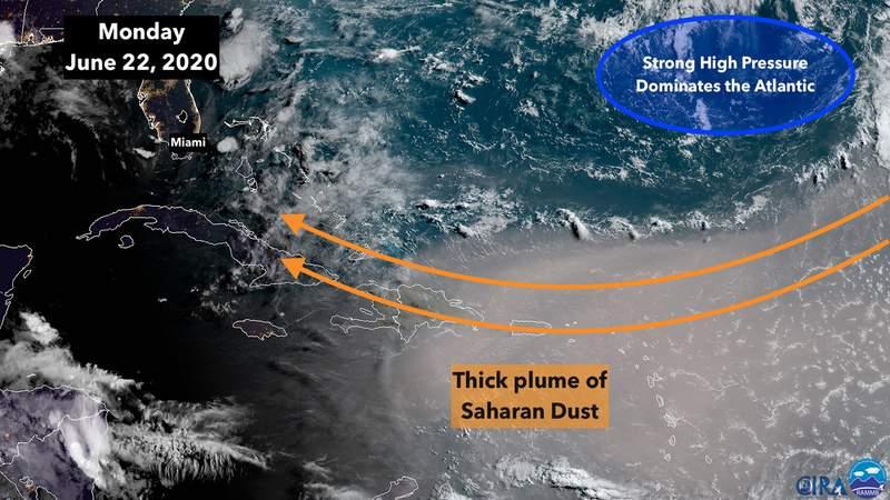 June 22 satellite image of the tropics.