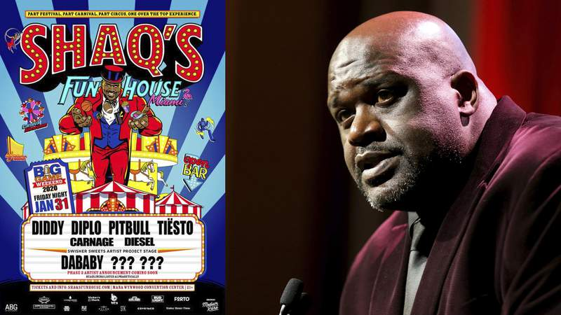 """Shaq to donate all proceeds from """"Fun House"""" party to families of victims in Sunday's helicopter crash"""
