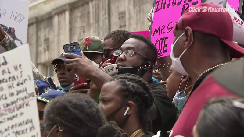 Black Lives Matter protest in Houston seeking justice for George Floyd