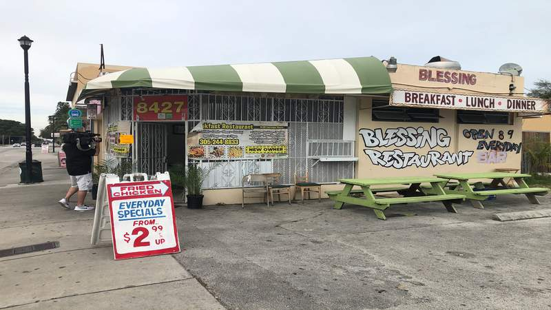 A state inspector found roaches inside of a refrigerator at the Blessing Restaurant in Miami.